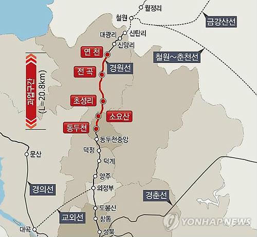 경원선 전철 연천∼동두천 연장사업 개통 지연