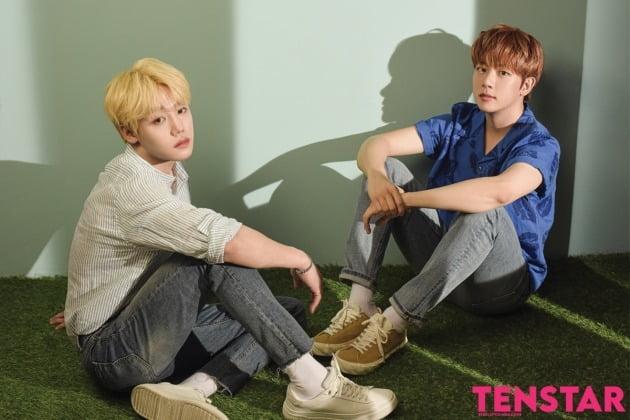 '텐스타' 6월호 메인 모델로 나선 장준(왼쪽), 지범.