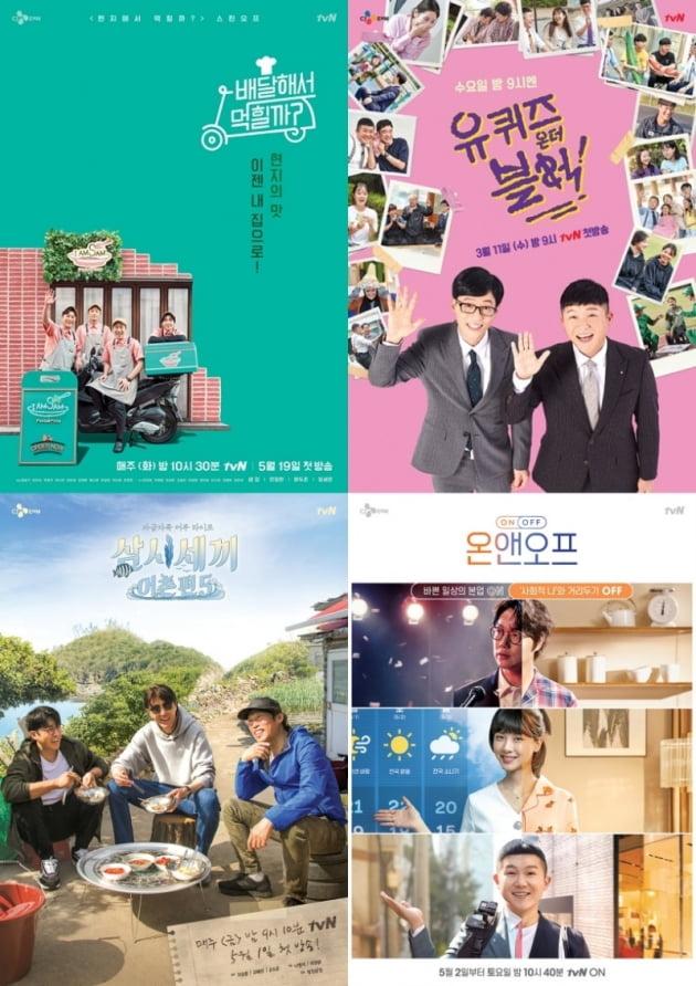 tvN의 힐링 예능 4편/ 사진=tvN 제공