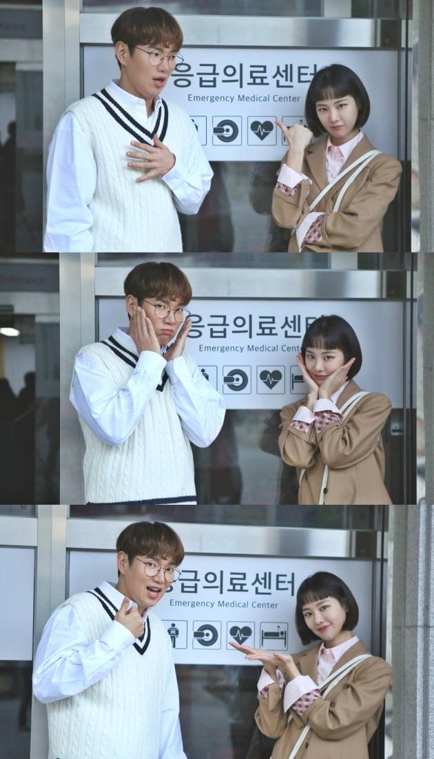 '꼰대인턴' 특별 출연한 장성규(왼쪽)와 한지은/ 사진=HB엔터테인먼트 제공
