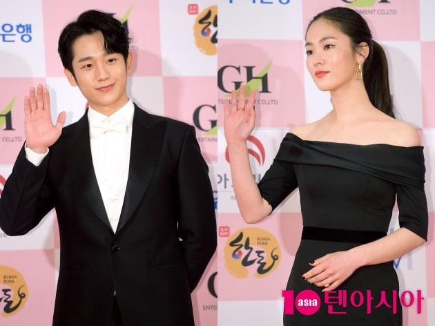 제56회 대종상 영화제에서 신인상을 수상한 배우 정해인(왼쪽), 전여빈 / 서예진 기자 yejin@
