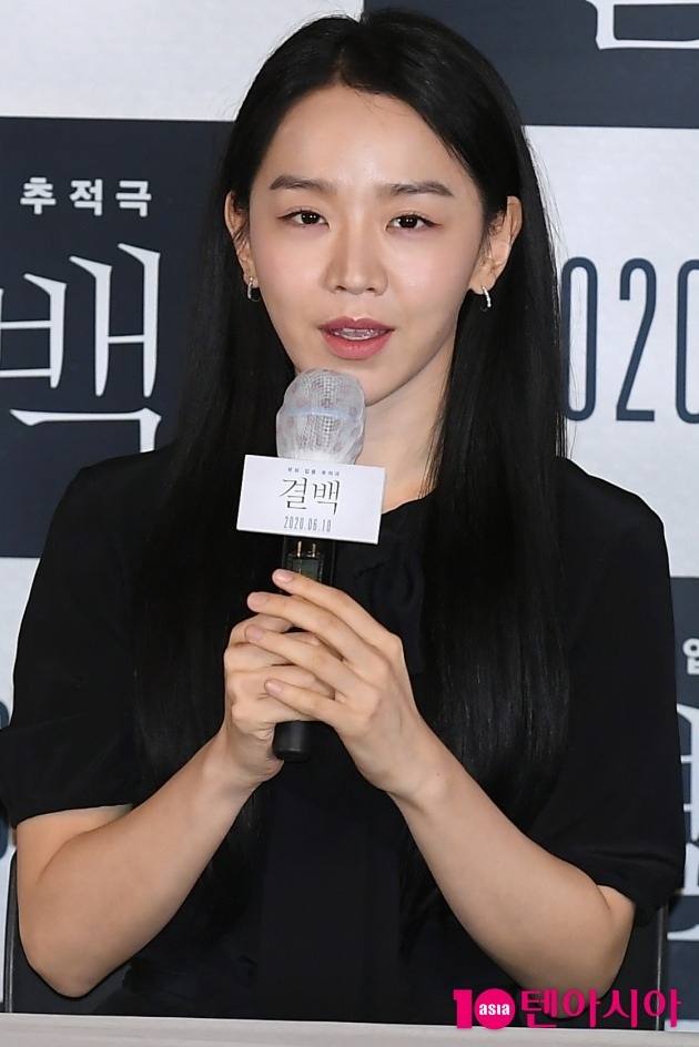 [TEN 포토] 신혜선 '영화 결백 드디어 개봉합니다'