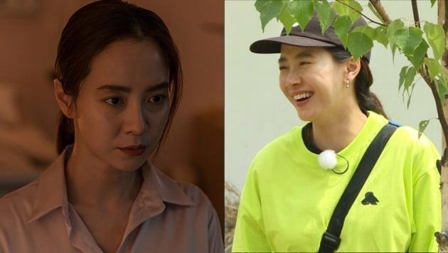 영화 '침입자'의 송지효와 예능 '런닝맨'의 송지효 / 사진제공=에이스메이커무비웍스
