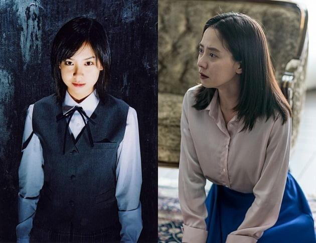 영화 '여고괴담3'(왼쪽)와 '침입자'의 송지효 / 사진제공=시네마서비스, 에이스메이커무비웍스