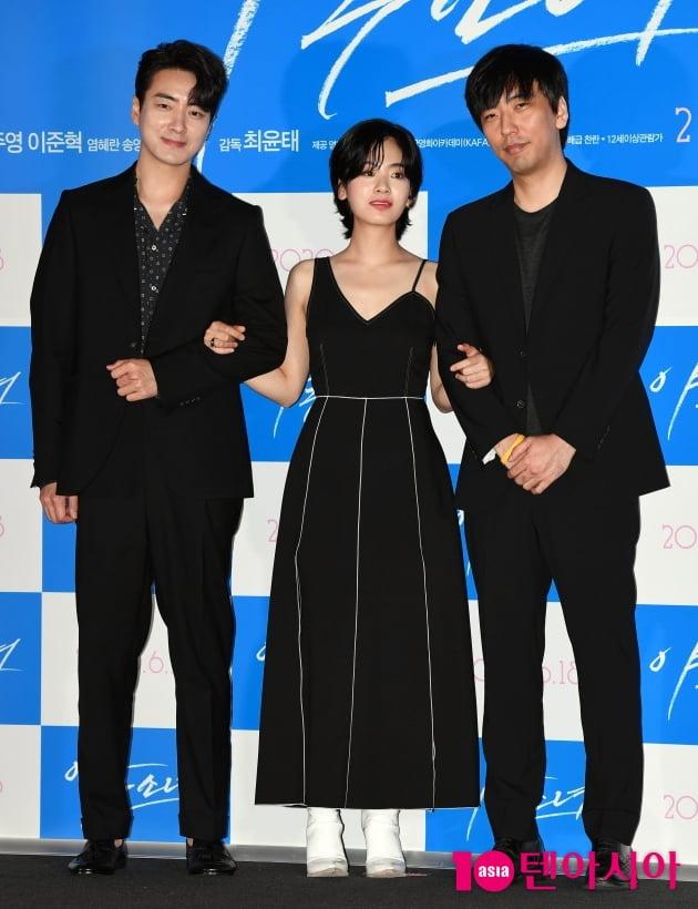 [TEN 포토] 이준혁-이주영-최윤태 감독 '영화 '야구소녀' 주역들'