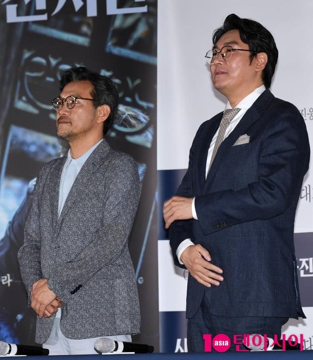 [TEN 포토] '사라진 시간' 정진영-조진웅 '감독과 배우'