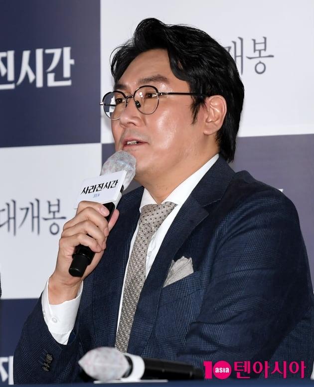 """[TEN 포토] '사라진 시간' 조진웅 """"현역배우 감독이라 가려운곳을 잘 긁어줬다"""""""