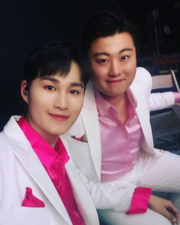 가수 김희재(왼쪽)와 김호중/ 사진=김호중 인스타그램