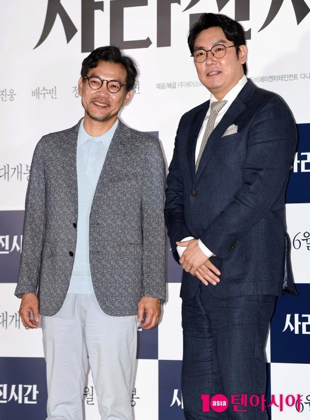 [TEN 포토] '사라진 시간' 조진웅-정진영 감독 '환상적인 조합'
