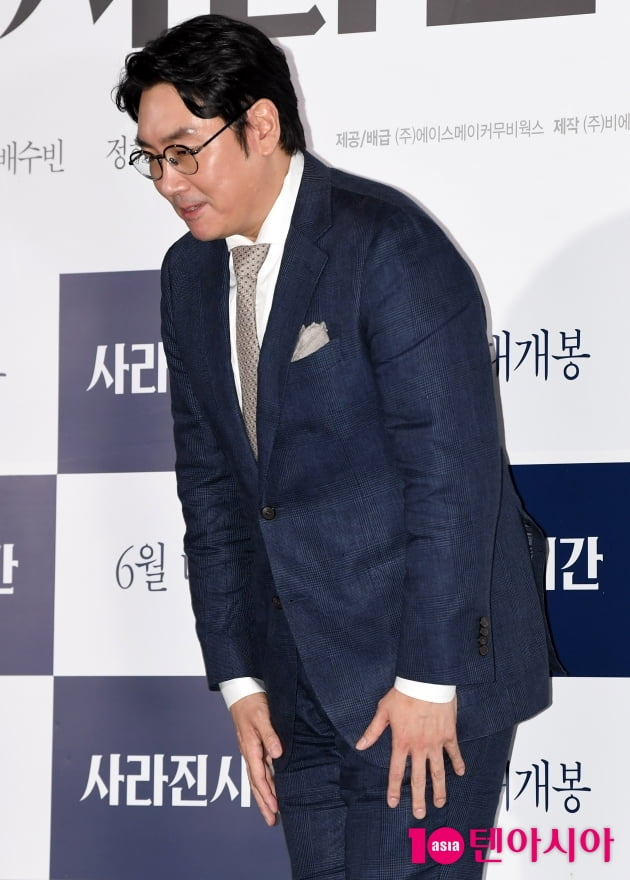 [TEN 포토] '사라진 시간' 조진웅 '젠틀한 마무리'