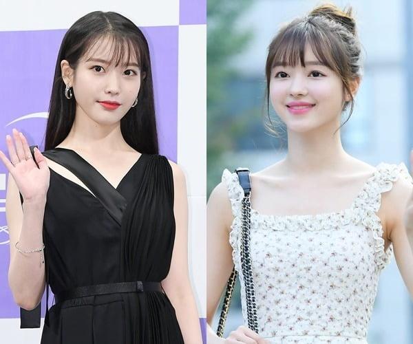 가수 아이유(왼쪽)와 유아 /사진=텐아시아DB