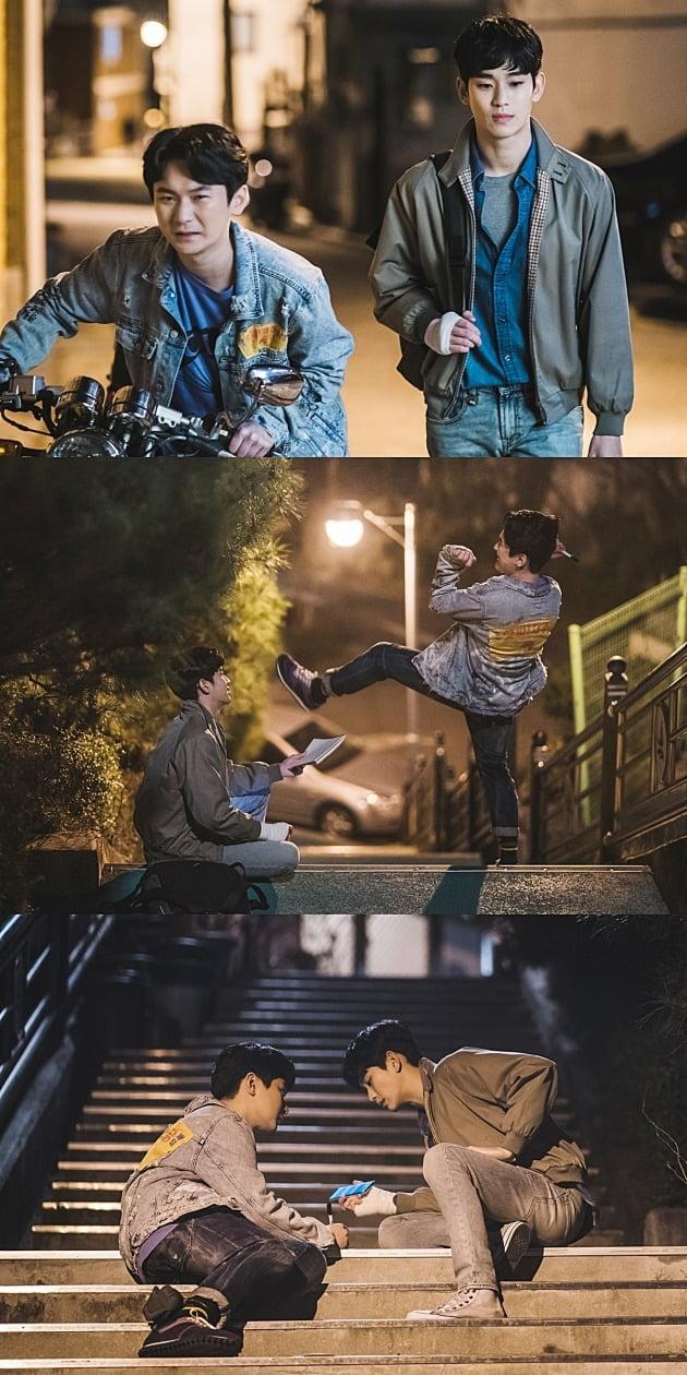'사이코지만 괜찮아' 김수현-강기둥이 절친 케미를 보여준다. / 사진제공=tvN
