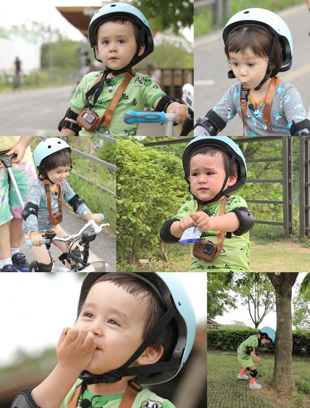 '슈돌' 윌벤져스 가족이 자전거 나들이에 나섰다. / 사진제공=KBS