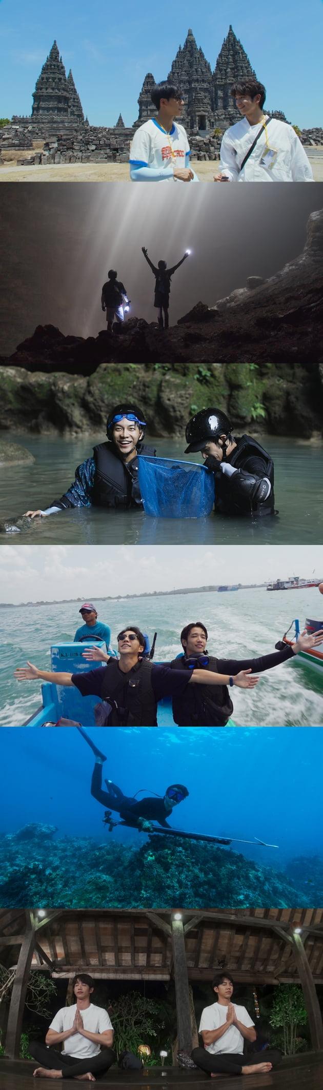'투게더' 이승기X류이호, 첫 여행지 인도네시아 스틸 공개 '눈호강'
