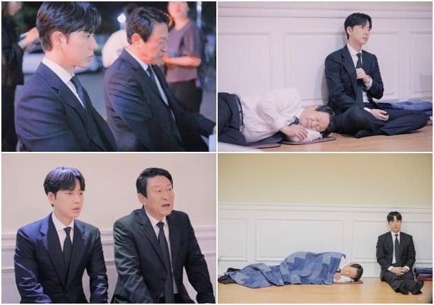 '꼰대인턴' 박해진, 김응수에게서 심상찮은 분위기가 감지됐다. / 사진제공=스튜디오HIM, 마운틴무브먼