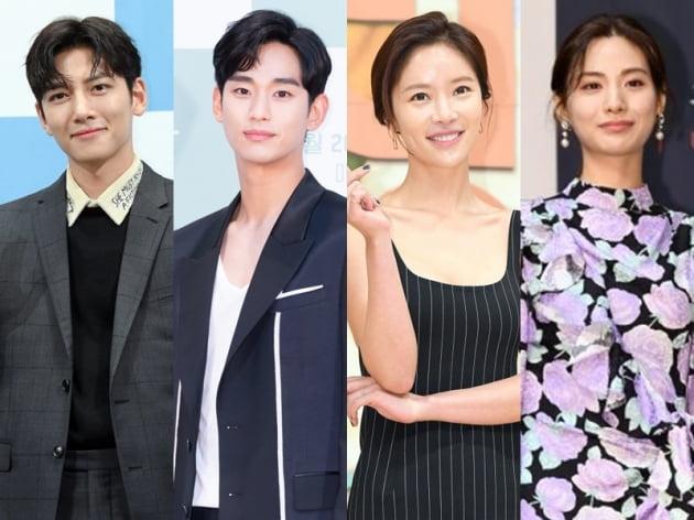 배우 지창욱(왼쪽부터), 김수현, 황정음, 나나/ 사진=텐아시아DB, tvN