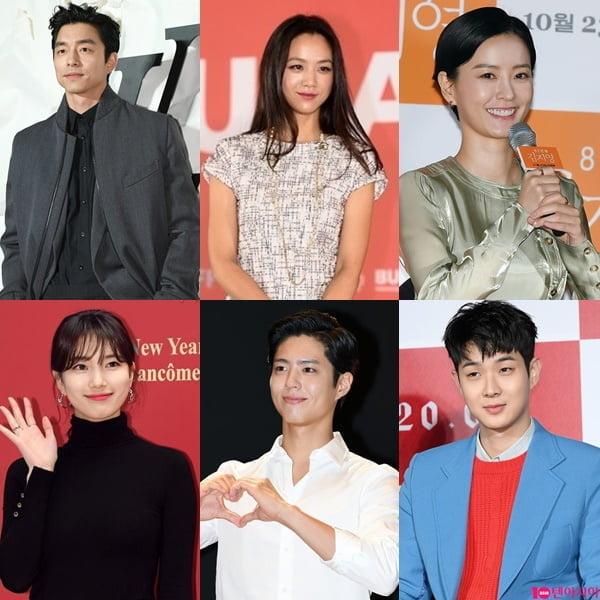 영화 '원더랜드' 공유(왼쪽부터 시계방향), 탕웨이, 정유미, 최우식, 박보검, 수지./