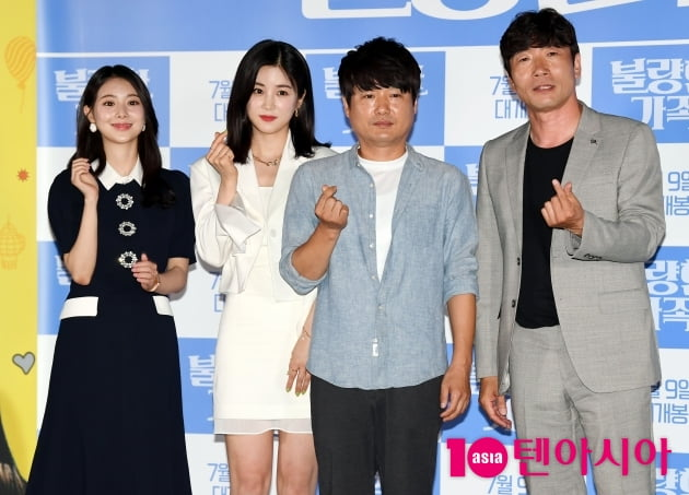 [TEN 포토] 김다예-박초롱-장재일 감독-박원상 '불량한 가족 사랑해주세요'