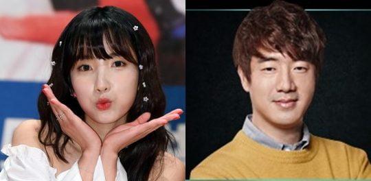 그룹 레인보우 출신 가수 지숙(왼쪽), 이두희