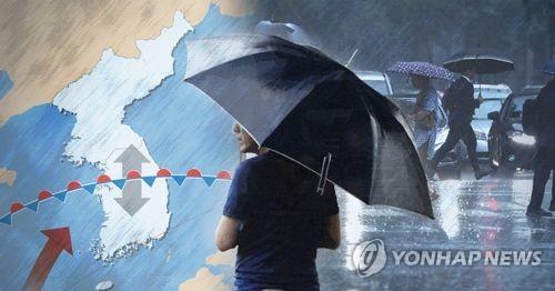 전북 곳곳에 장맛비…내일 오후까지 30∼80㎜ 비