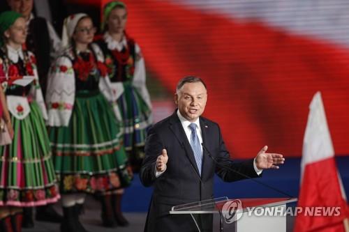 폴란드 대선서 두다 대통령 1위 예측…과반 실패로 결선치를 듯(종합)