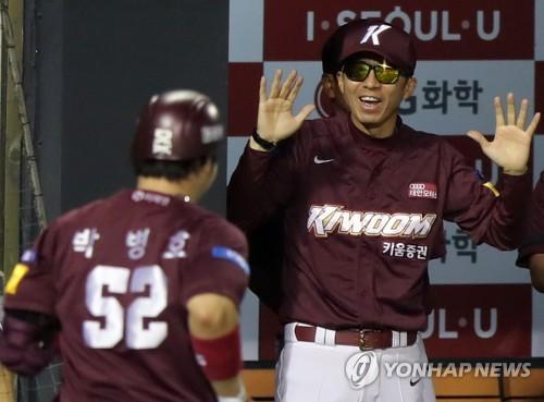 박병호 역전 결승 그랜드슬램…키움 8연승으로 2위 점프(종합)
