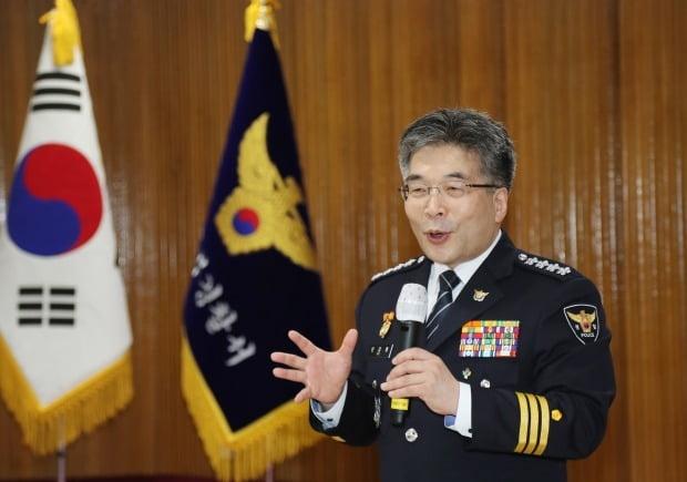 발언하는 민갑룡 경찰청장. 사진=연합뉴스