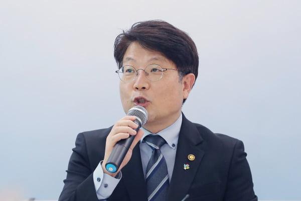 상법 개정안 관련 개요 밝히는 고기영 법무부 차관  /연합뉴스