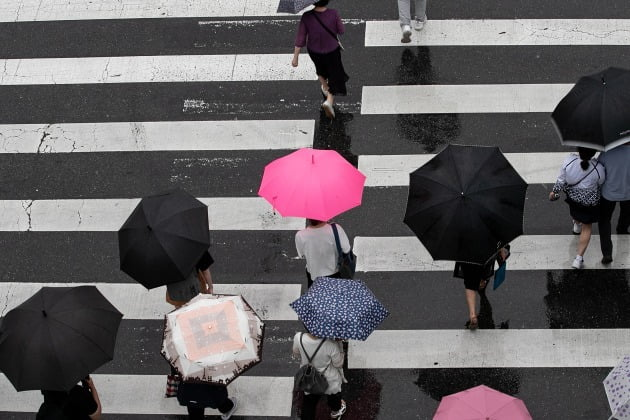 29일에는 외출 시 우산을 챙겨야겠다. 장맛비가 아침에 제주도부터 내리기 시작해 오후에는 전국으로 확산될 것으로 예보됐기 때문이다. 30일까지 예상 강수량은 강원영동에서 100∼200㎜(많은 곳 250㎜ 이상)로 전망된다. 사진=뉴스1