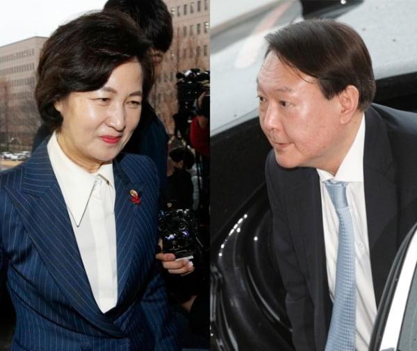추미애 법무부 장관과 윤석열 검찰총장(왼쪽부터) /사진=뉴스1