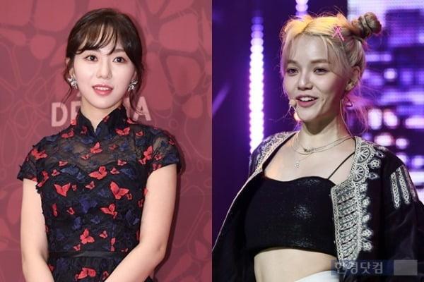 (왼쪽부터) 권민아, AOA 지민 /사진=한경DB