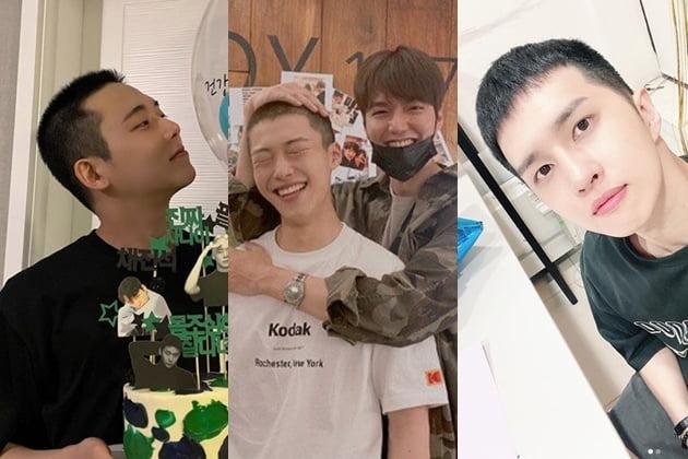 (왼쪽부터) 마이네임 채진석, 우도환, 빅스 켄 /사진=인스타그램