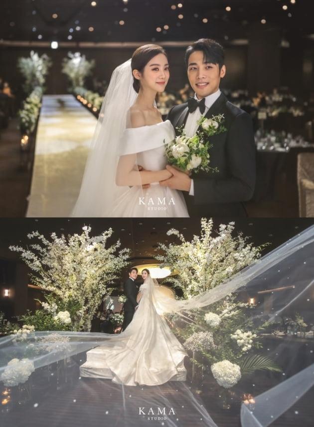 우혜림, 신민철 결혼식 본식 사진 공개 /사진=르엔터테인먼트 제공