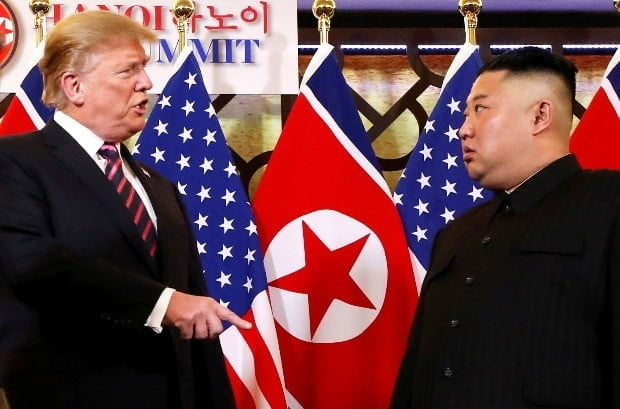 작년 2월 '하노이 노딜'로 끝난 2차 미북정상회담.