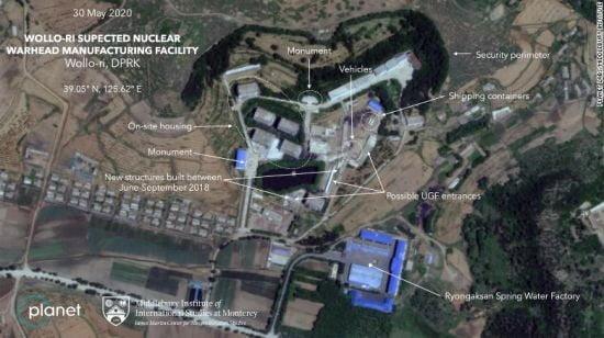 북한 원로리 핵시설의 위성사진 [사진=CNN 홈페이지 캡처]