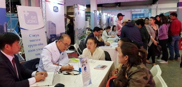 인천시와 인천관광공사 관계자들이 지난해 5월 몽골에서 외국인 환자 유치활동을 펼치고 있다. 인천시 제공
