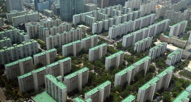 서울 여의도 일대 밀집한 아파트 단지. 한경DB