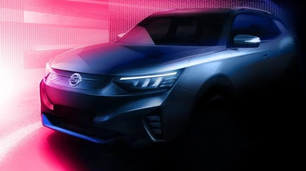 쌍용차가 공개한 준중형 전기 SUV E100 모습. 사진=쌍용차