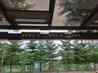 경기도 용인에 위치한 00중학교 앞 정류소. 대로변을 따라 총 4개의 학교가 있다.=채선희 한경닷컴 기자 csun00@hankyung.com