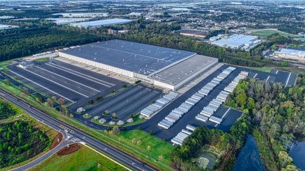 지누스가 미국 매트리스 생산 및 물류 복합센터를 구축하기 위해 인수한 미국 조지아주 부지와 건물의 모습.  지누스 제공