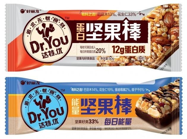 오리온은 중국법인이 닥터유 단백질바와 에너지바의 현지 생산·판매를 시작했다고 28일 밝혔다. 사진=오리온 제공