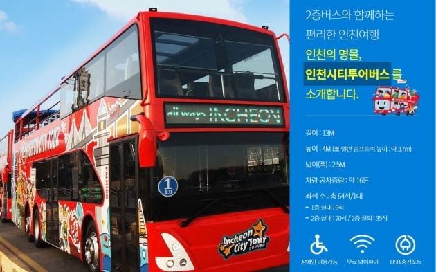 인천시티투어 2층버스. 인천관광공사