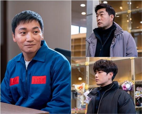 '모범형사' 조재윤과 손현주, 장승조 (사진= 블러썸 스토리, JTBC 스튜디오 제공)