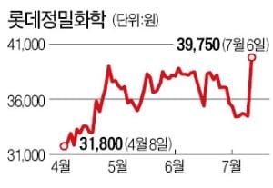 """""""대체육시장 급성장 수혜""""…롯데정밀화학 급등"""