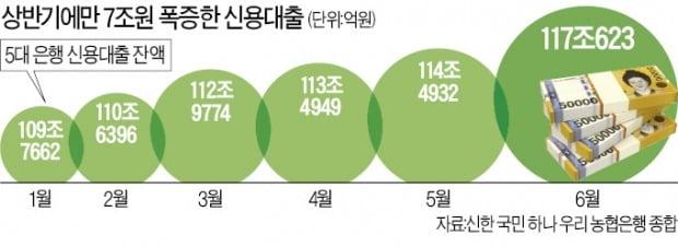 """""""영끌해서 집 사자""""…주담대 누르니 신용대출 월 18만건 '폭증'"""