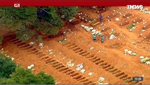 브라질 코로나19 사망자 6만명 육박, 6월에만 3만여명 사망