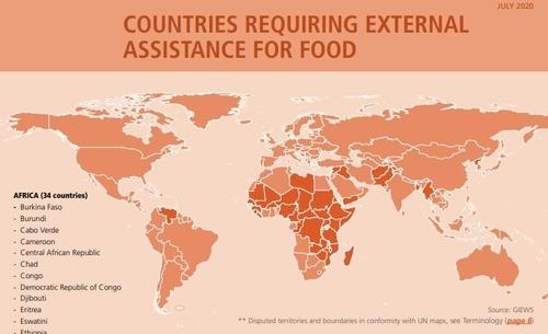 "FAO, 북한 '식량지원 필요국가'로 또 지정…""식품 다양성 열악"""