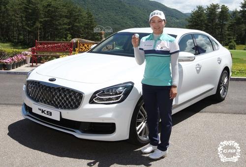 김민선, 3년 만에 KLPGA 투어 우승 기회…2R 단독 선두(종합)