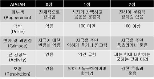 """""""조산아 사망 위험, '아프가 점수'로 예측"""""""
