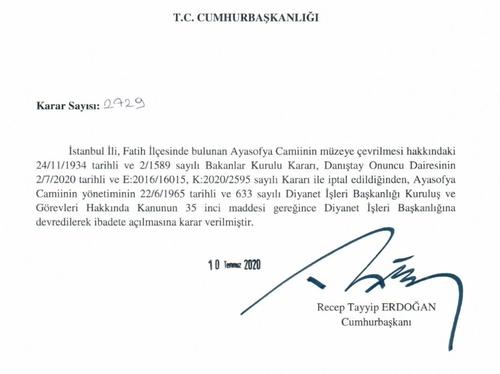 이스탄불 성소피아, 85년만에 '박물관' 취소…모스크로 전환(종합2보)